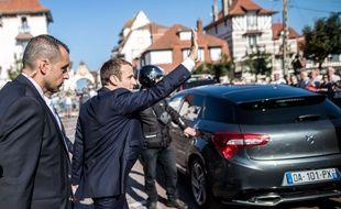 Emmanuel Macron au Touquet (Pas-de-Calais) en juin 2017