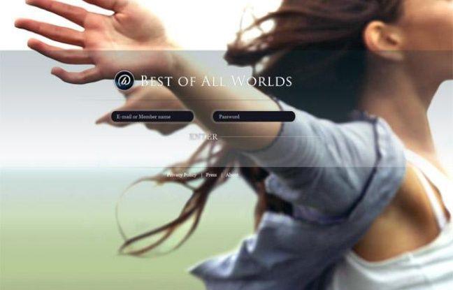 La page d'accueil du réseau social Best of all Worlds.
