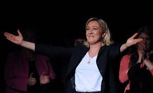 Marine Le Pen, lors d'un meeting à Béziers en 2014.