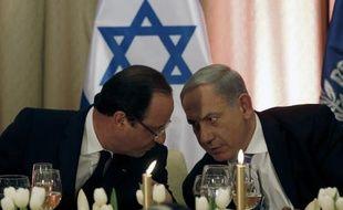Le président français François Hollande et le Premier ministre israélien Benjamin Netanyahu à Jérusalem, le 18 novembre 2013