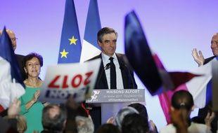 François Fillon en meeting à Maison-Alfort (Val-de-MArne), le 24 février 2017.