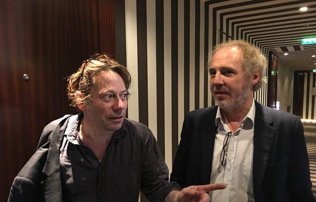 Mathieu Amalric et Arnaud Desplechin en promo pour Les Fantômes d'Ismaël en mai 2017