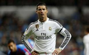 Cristiano Ronaldo lors du match entre le Real Madrid et Levante le 15 mars 2015.