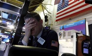 Un trader à Wall Street, le 9 mars 2020.