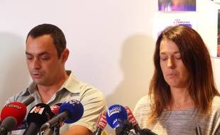 Lyon, le 29 septembre 2017. Les parents de Maëlys ont pris pour la première fois la parole ce vendredi, un mois après la disparition de leur fillette de 9 ans.