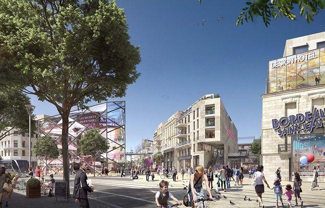 La Rue Bordelaise, une nouvelle rue qui sera percée de la gare Saint-Jean à la Garonne, accueillera commerces en rez-de-chaussée, logements et bureaux