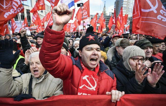 Russie: Le parti communiste organise des manifestations contre Vladimir Poutine et le Kremlin