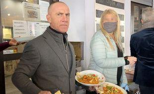Christophe Wilson, le 27 janvier 2021, dans son restaurant de Nice ouvert illégalement