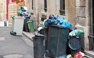 De plus en plus de Suisses jettent leurs poubelles en France pour éviter les taxes des sacs dans leur pays, soit dans des containers adaptés, soit à la sauvage. Illustration
