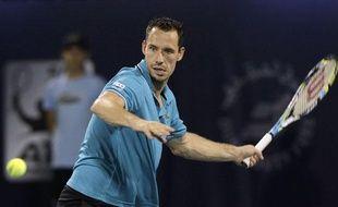 Le tennisman français Michael Llodra, lors d'un match à Dubaï, le 28 février 2012.