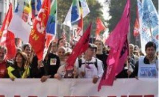 Archive manif contre la réforme des retraites à Lyon, octobre 2010.