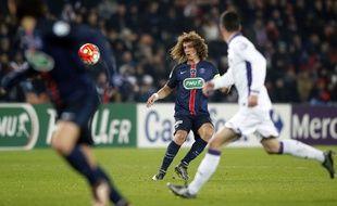 David Luiz lors du match entre le PSG et Toulouse le 19 janvier 2016.