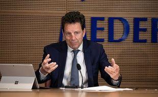 Geoffroy Roux de Bezieux, président du Medef, en mai 2020 (photo d'illustration)