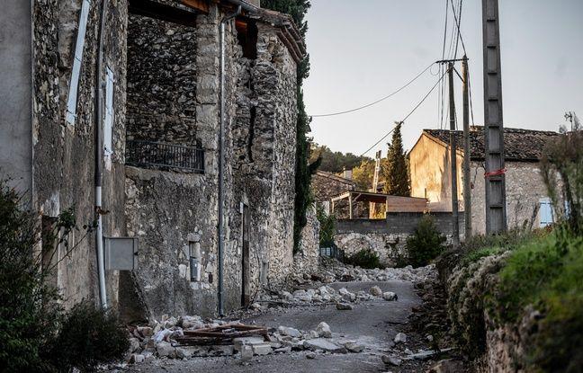 Au Teil, épicentre du séisme qui a secoué la Drôme Ardèche le 11 novembre 2019.