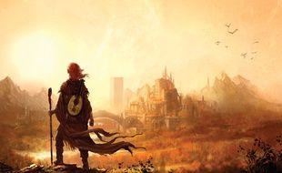 Illustration du roman«Le Nom du vent», de Patrick Rothfuss.