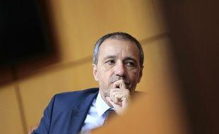 Le président de l'Assemblée corse Jean-Guy Talamoni, le 30 mars 2017 à Ajaccio.