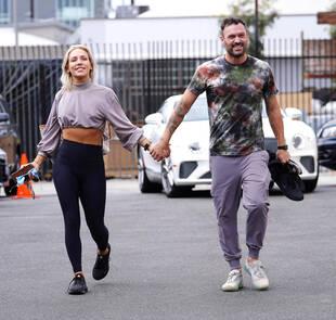 Sharna Burgess et Brian Austin Green, le 28 septembre, à Los Angeles.