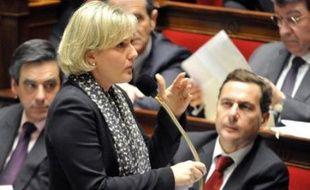 La secrétaire d'Etat à la Famille, Nadine Morano, a eu des mots très vifs envers sa majorité UMP et avec le président de séance, Maurice Leroy (Nouveau centre), vendredi à l'Assemblée après avoir été mise en minorité sur un article du projet de financement de la Sécu en 2011.