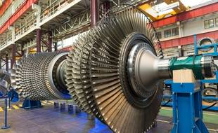Une turbine GE à l'usine de Belfort.