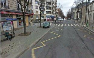 Capture d'écran Google street view de l'avenue Gambetta à Paris, où un enfant a été renversé et tué, le 19 avril 2012.
