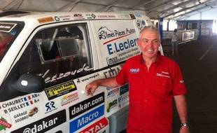 Bernard Chaubet le 4 janvier 2014 à Rosario avant le départ du Dakar.