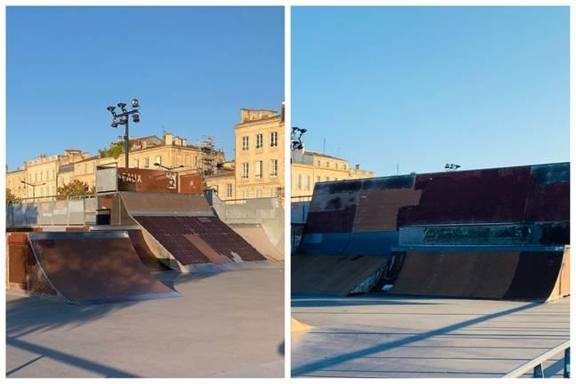 L'actuel skatepark n'est pas dans un très bon état à Bordeaux.