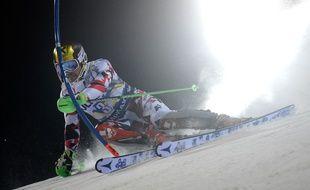 Marcel Hirscher au slalom de Madonna di Campiglio le 22 décembre 2015.