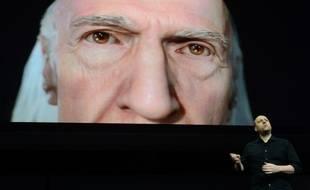 David Cage, patron du studio Quantic Dream, présente une démo technique sur Playstation 4, le 20 février 2013.