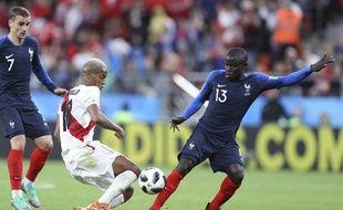 N'Golo Kanté a sorti un grand match face au Pérou en Coupe du monde, le 21 juin 2018.