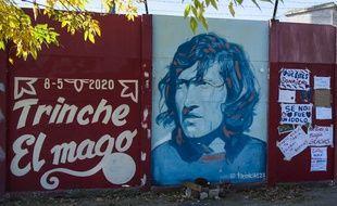 Une fresque en hommage à Tomas Carlovich devant le stade de Rosario Central.