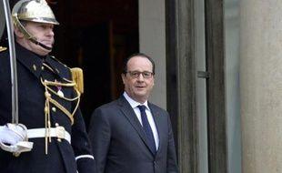 Le président François Hollande s'apprête à accueillir Angela Merkel à l'Elysée, le 20 février 2015