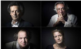 Hédi Keddour, Nathalie Azoulay, Mathias Enard, Tobie Nathan, les quatre finalistes du Goncourt