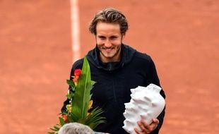 Lucas Pouille a remporté à Budapest le deuxième tournoi ATP de sa jeune carrière