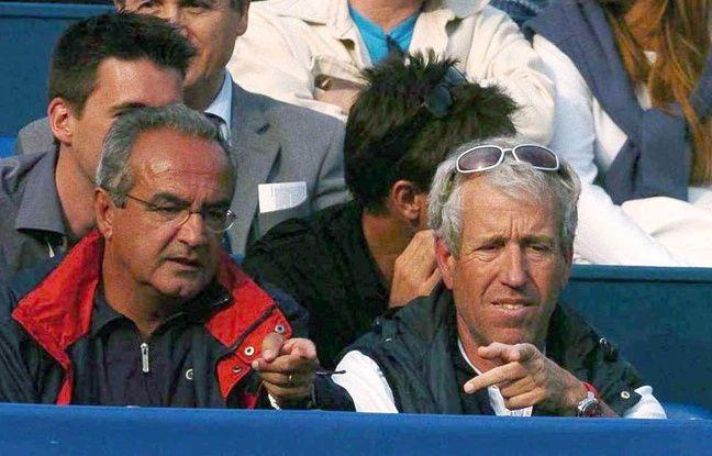 Le père de Richard Gasquet (à droite) lors de la victoire de son fiston en 2005 à Monte-Carlo.