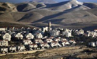 La colonie Maale Adumim, l'une des plus grandes de Cisjordanie, le 23 janvier 2017.