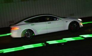 Une Tesla modèle S.