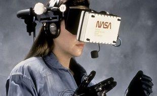 Essai de réalité virtuelle à la Nasa, image d'illustration.