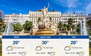 Météo Toulon: Prévisions du mercredi 24 juillet 2019