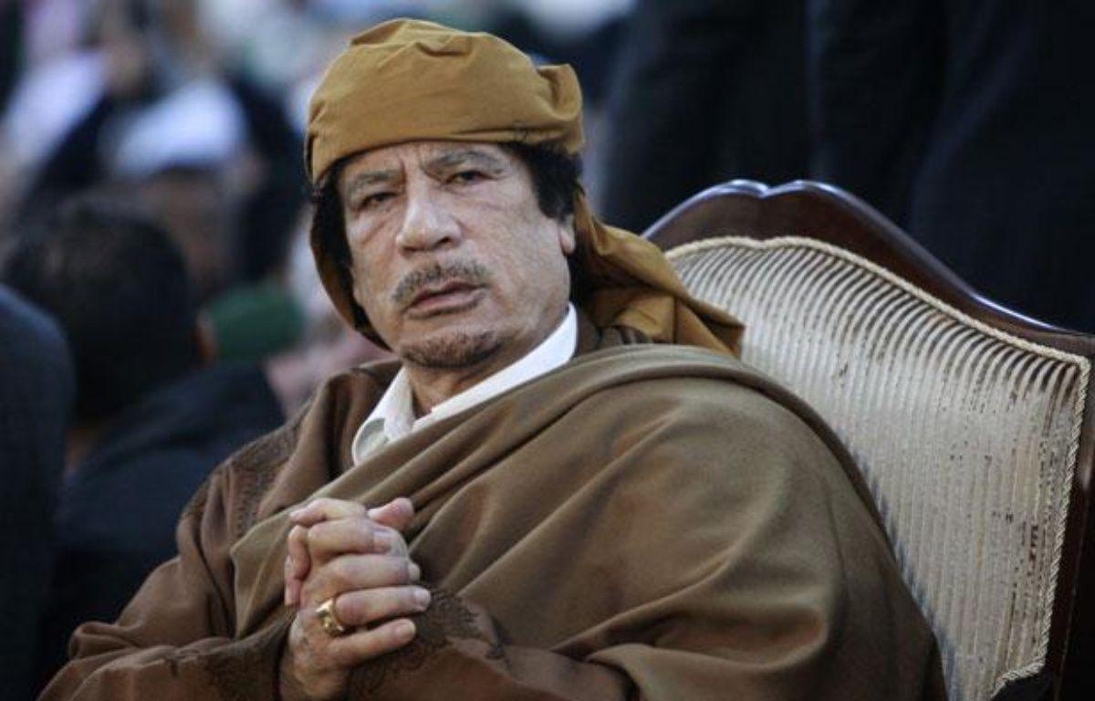 Mouammar Kadhafi, le 13 février, à Tripoli, en Libye. – Reuters