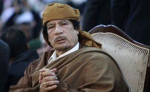 Mouammar Kadhafi, le 13 février, à Tripoli, en Libye.