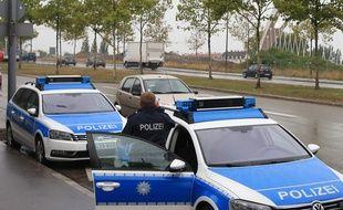 Illustration. Strasbourg le 16 septembre 2015. La police Allemande à Kehl.
