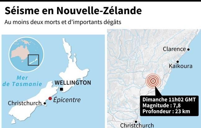 Le séisme en Nouvelle-Zélande.