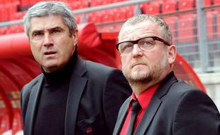 Daniel Sanchez et Jean-Raymond Legrand, le 15 avril 2012 à Valenciennes.