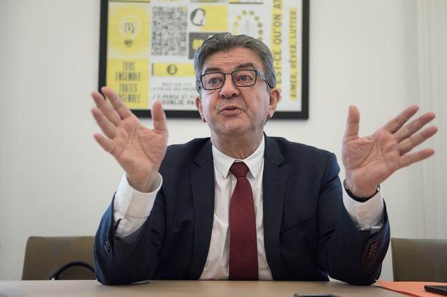 Jean-Luc Mélenchon dans son bureau à l'Assemblée nationale, le 2 décembre 2019.