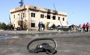 Dégâts après un attentat à Zliten sur la côte libyenne, le 7 janvier 2015
