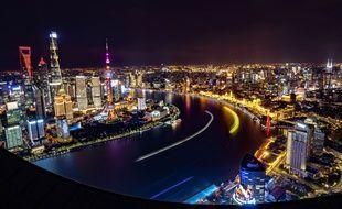 La ville de Shanghai de nuit, en novembre 2018.