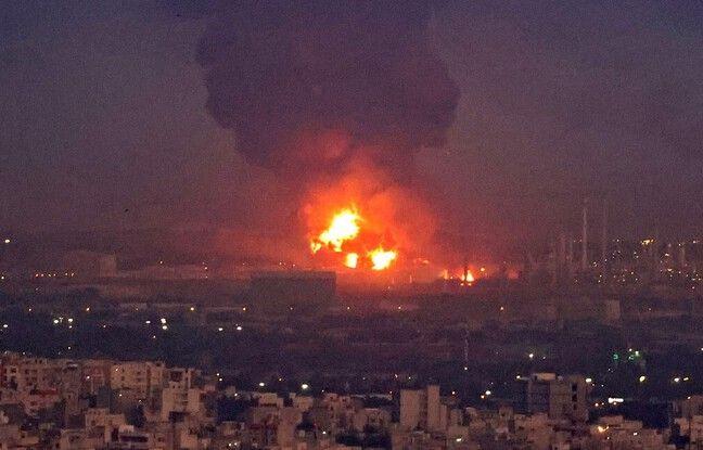 648x415 incendie declare raffinerie teheran 2 juin 2021