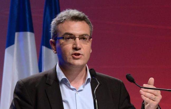 Aymeric Chauprade, le 18 mai 2014 à Paris lors d'un meeting de campagne du FN