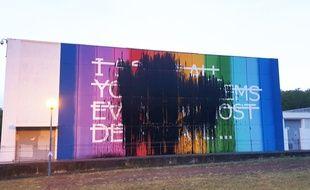 La fresque de RERO peinte en juin dernier dans le cadre du festival Rose Beton a été vandalisée.