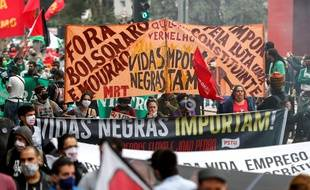 Manifestation contre Jair Bolosonaro le 14 juin 2020